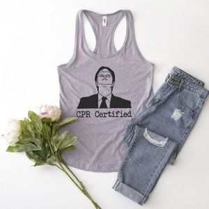 Tops - CPR Certified Dwight Tank • Made to order 🧶
